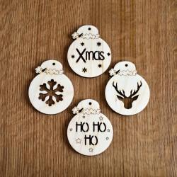4 x Χριστουγεννιάτικες μπάλες 8εκ