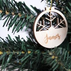 4 x Χριστουγεννιάτικες μπάλες προσωποιημένες 8εκ
