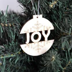 4 x Χριστουγεννιάτικες μπάλες με ευχές 8εκ