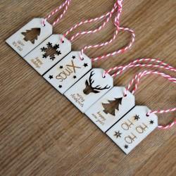 6 x Χριστουγεννιάτικα tags 5εκ