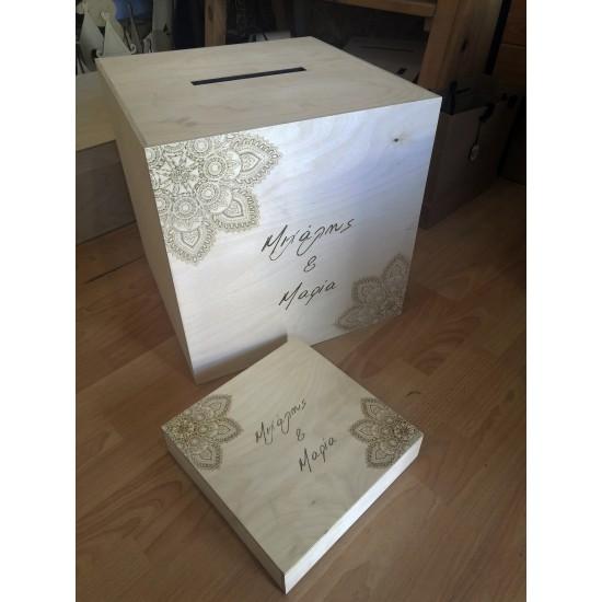 Κουτί Γάμου Mandala 40x40x40cm