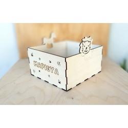 Κουτί Προσωποποιημένο με Λιοντάρι & Άλογο 20 x 21x11cm