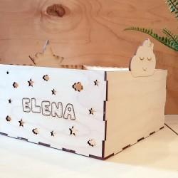 Κουτί Προσωποποιημένο με Αστέρι & Σύννεφο 20 x 21x11cm