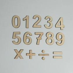 Αριθμοί- Σετ 0-9-σύμβολα πράξεων