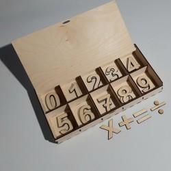 Αριθμοί σε  Ξύλινο Κουτί