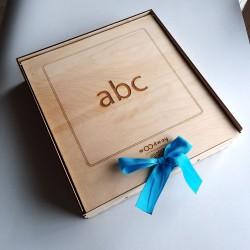 Κινητή Αγγλική Αλφάβητος Σε Ξύλινο Κουτί - Πεζά Γράμματα